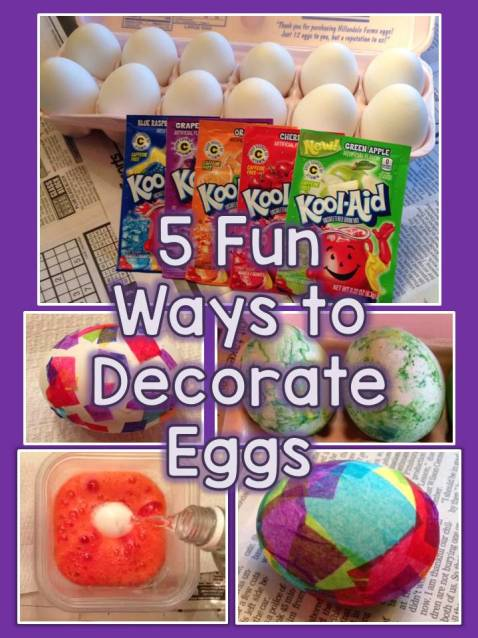 5 Fun Ways to Decorate Eggs with Students or Children