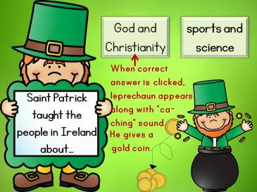 St. Patrick's Day interactive quiz