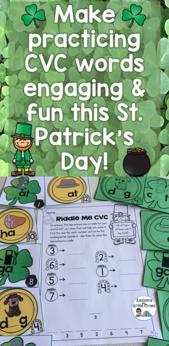 Make practicing CVC words engaging & fun this St. Patrick's Day!