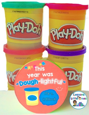 Student gift for the end of the school year - play dough