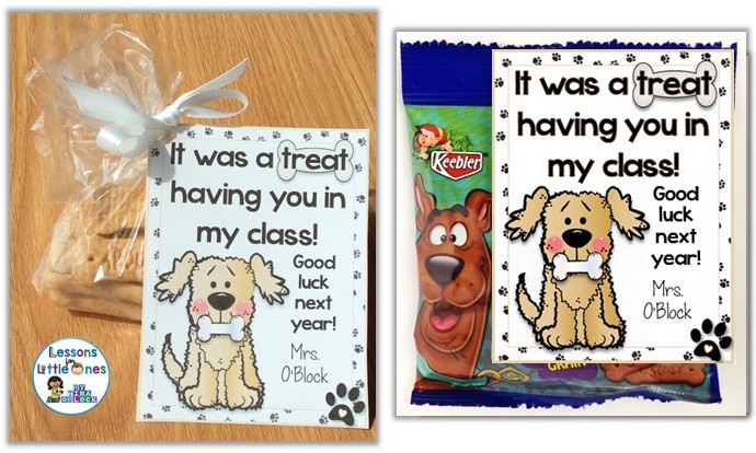 End of the school year student gifts and gift tags