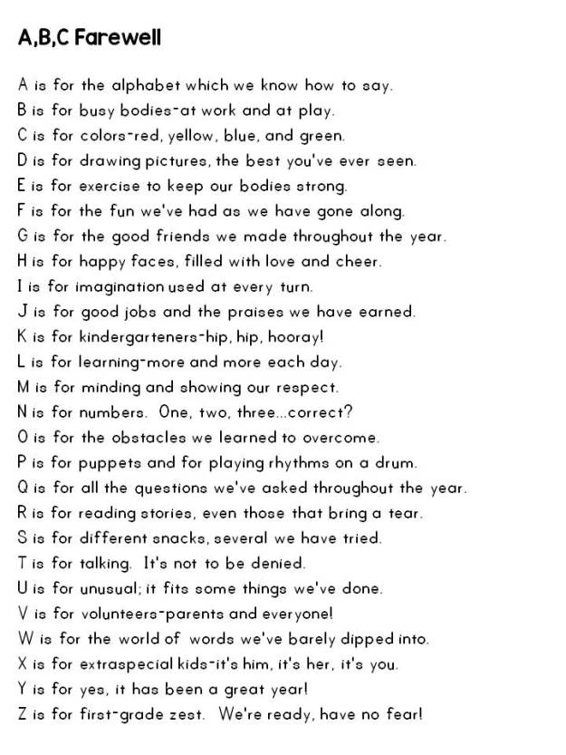 end of the school year poems