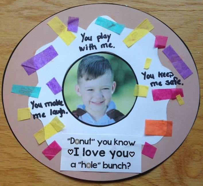 Donuts for Dads personalized craft with student picture