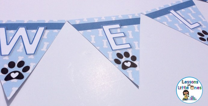 welcome pennant for classroom