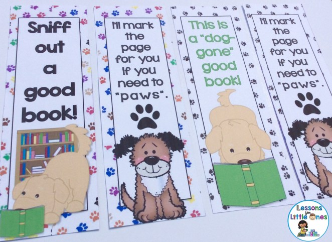 bookmarks dog theme