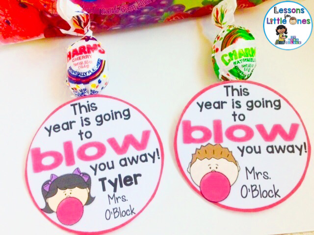back to school student gift blow pop tag