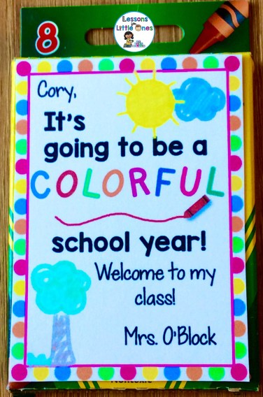 back to school student gift - crayons
