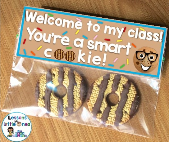 back to school student gift bag topper - smart cookie