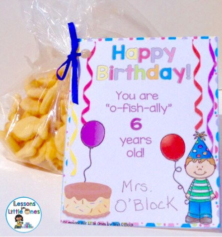 birthday gift tag for students