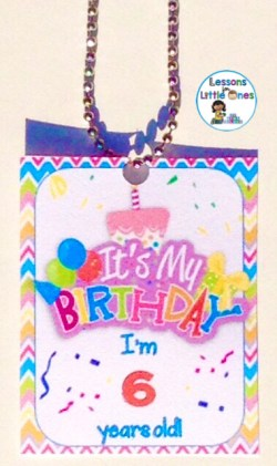 student birthday brag tag