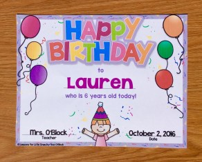birthday certificate editable