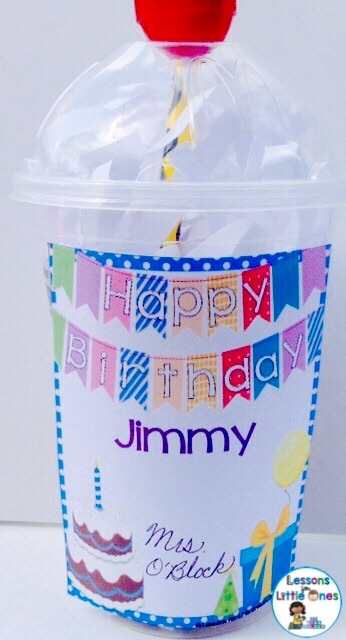student birthday gift idea - sundae