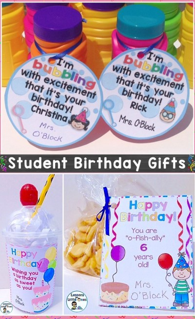 Student Birthday Gift Take Home Treat Ideas