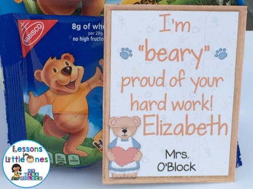 "I'm ""Bear-y"" Proud of Your Hard Work! Student Gift Tag"