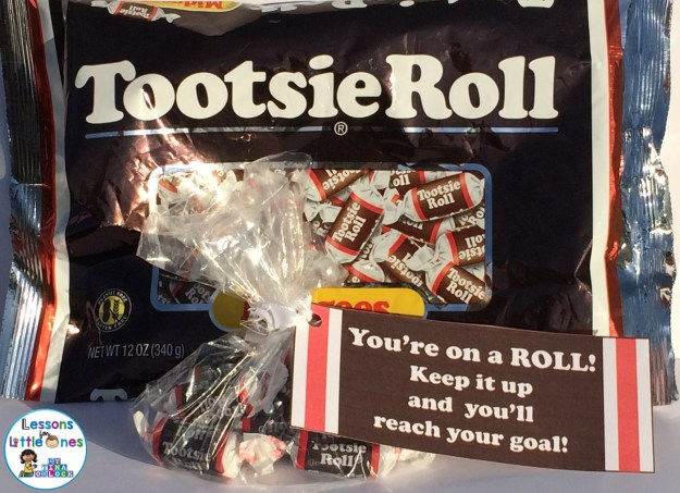 You're On a Roll! Tootsie Roll Student Gift Tags