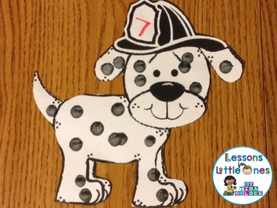 fire dog bulletin board pattern
