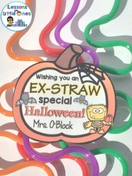 Have an ex-straw special Halloween free student gift tag