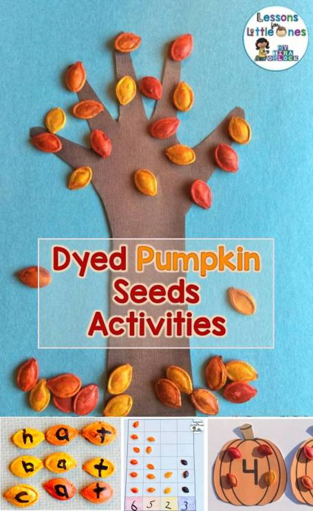Dyed Pumpkin Seeds Activities