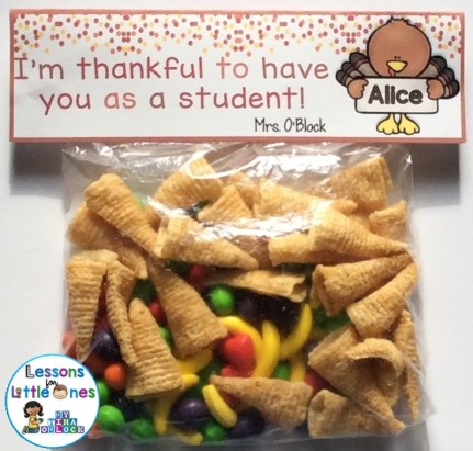 free Thanksgiving Treat Bag Topper