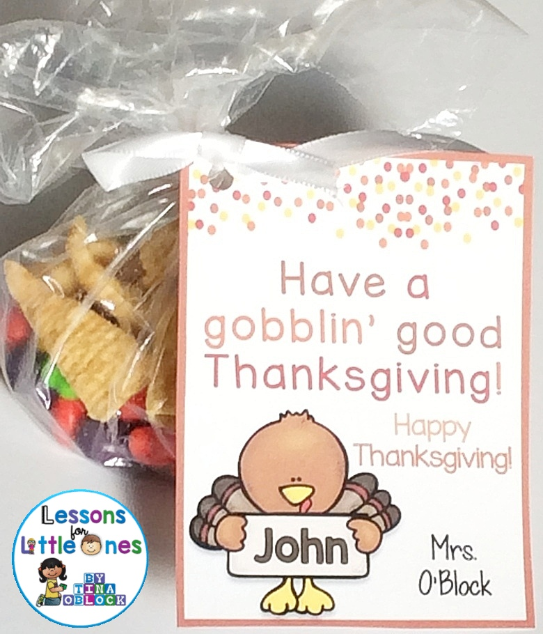 free Thanksgiving student gift tag & student gift