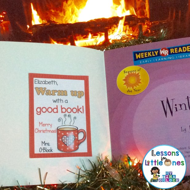 Get Wrapped Up in a Good Book Christmas Student Gift Tag