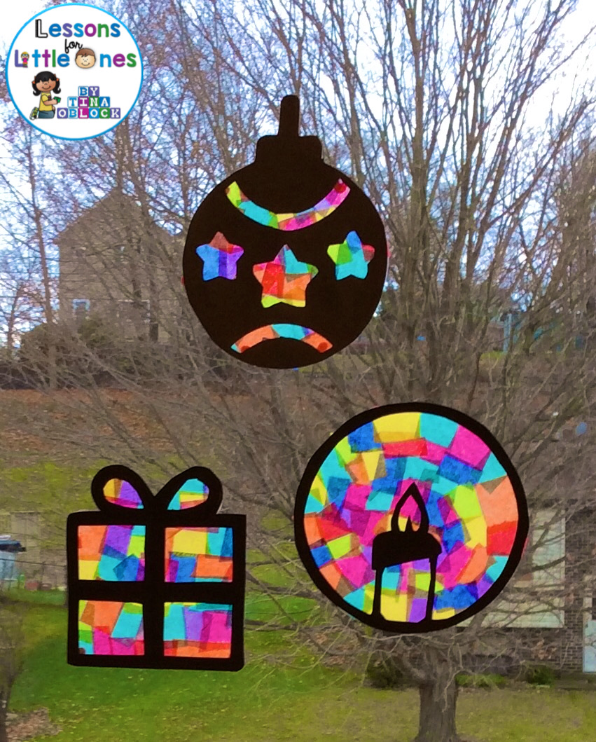 Christmas Silhouette Window Decorations Lessons For Little