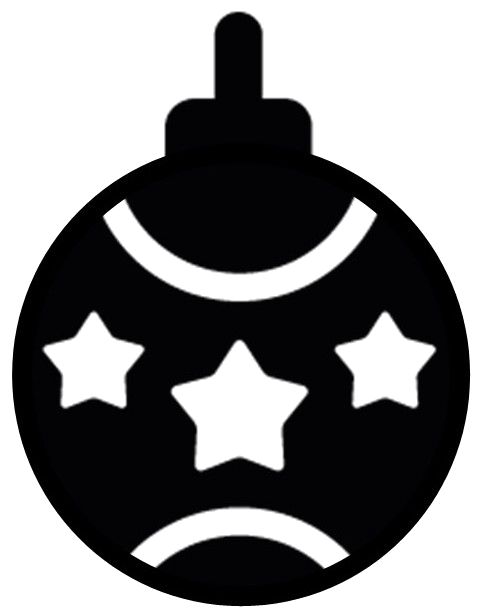 Christmas tree ball silhouette window decorations
