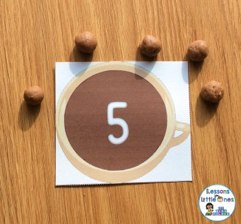 hot chocolate play dough math activity