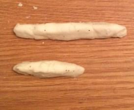 snow dough play dough measurement learning activity