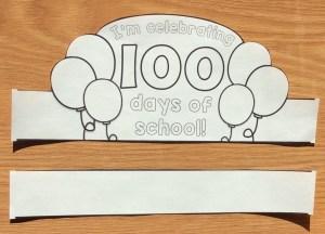 I'm celebrating 100 days of school crown