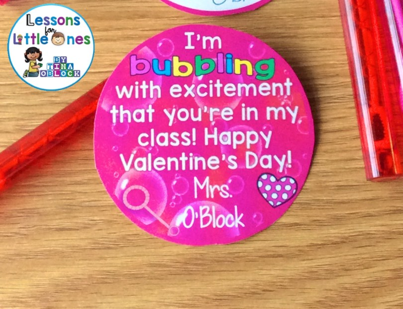Bubbling with excitement Valentine's Day student gift