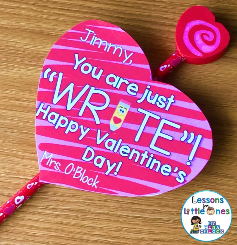 "Valentine student gift Pencil - You are just ""write"""