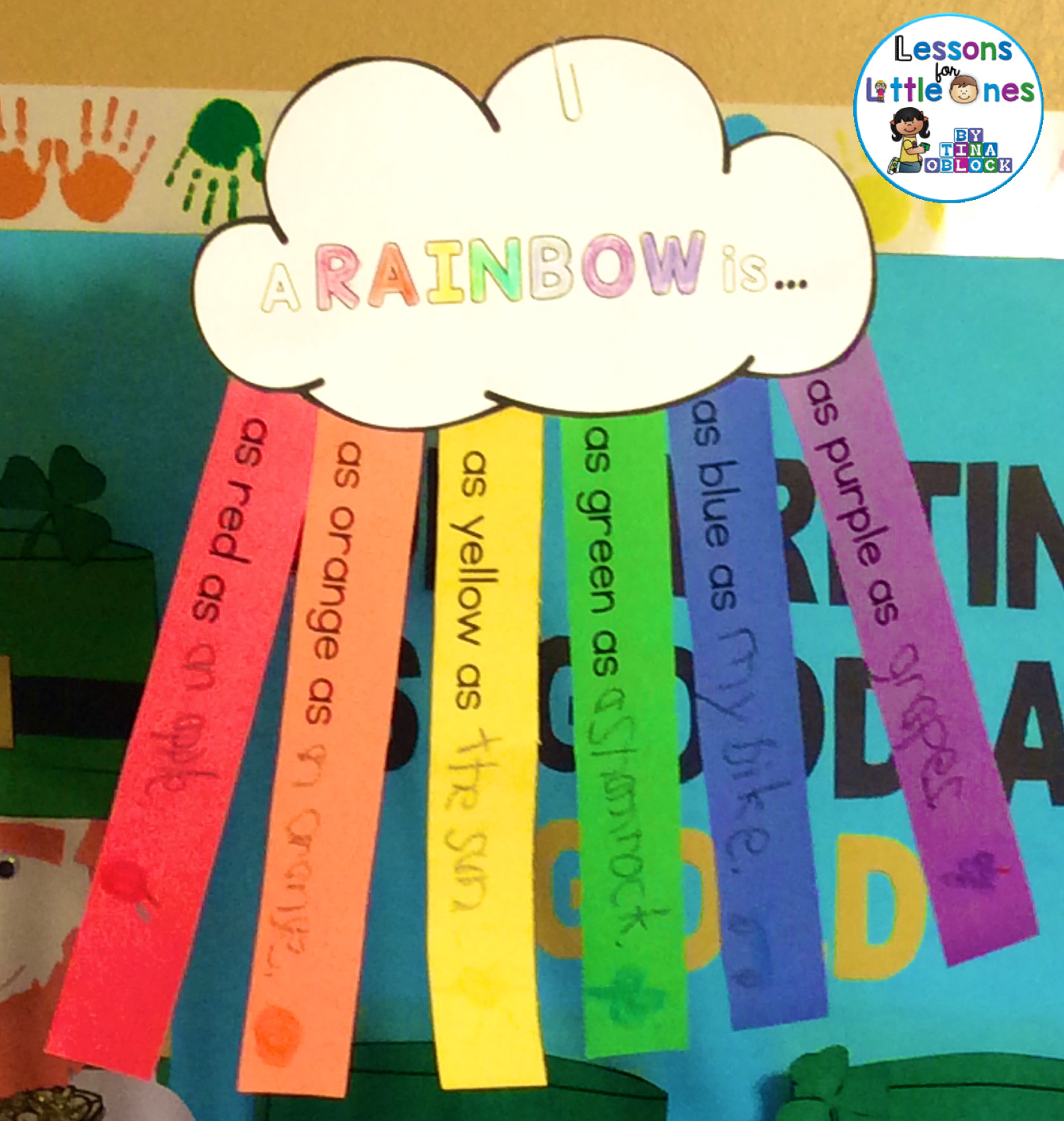 St Patrick S Day Rainbow Experiment Math Activity