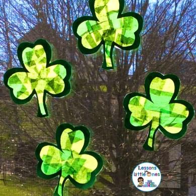 St. Patrick's Day suncatcher craft