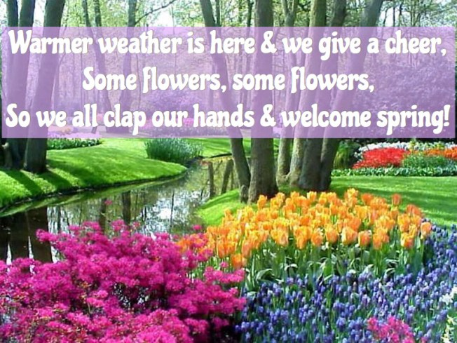 signs of spring chant