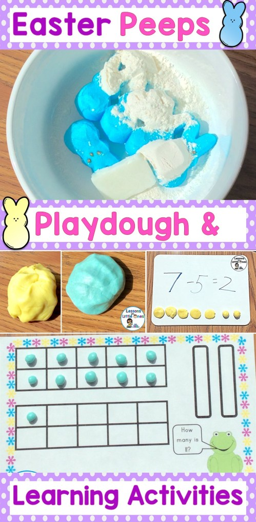 Easter Peeps Play Dough & Learning Activities
