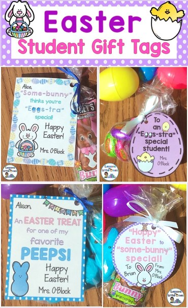 Easter Student Gifts & Gift Tags
