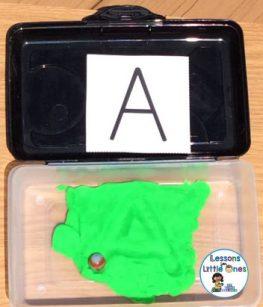 play dough letter maze