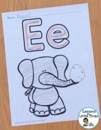 differentiated letter pages for learning the alphabet