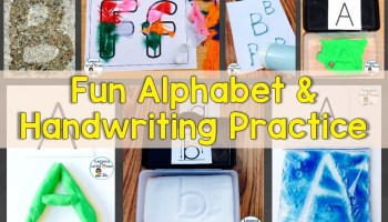 fun alphabet and handwriting practice