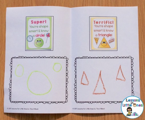 2D shapes brag tag book