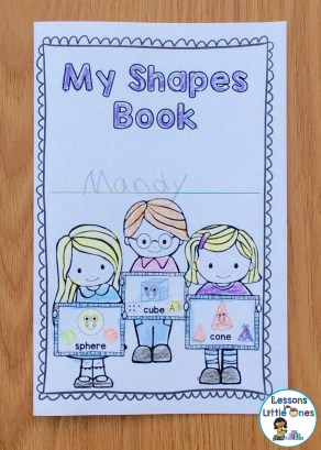 3D shapes brag tag book cover