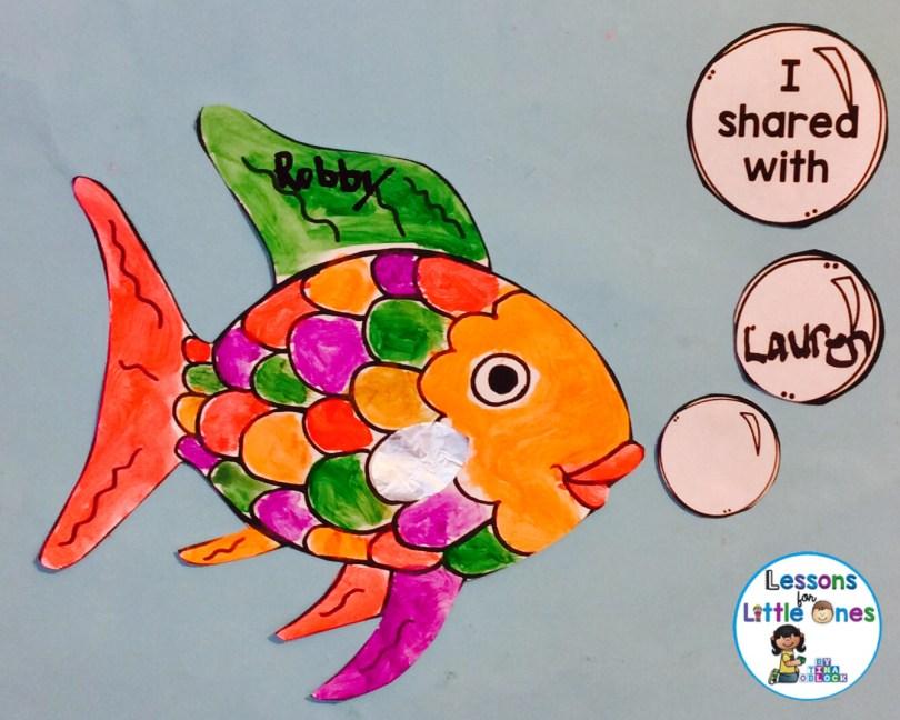 rainbow fish craftivity