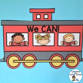 growth mindset class display based on The Little Engine That Could