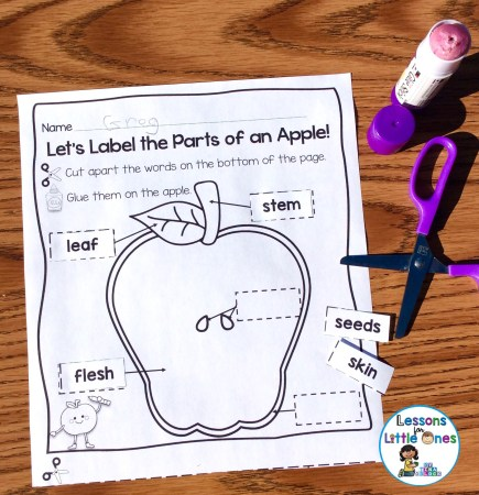 apple cut and paste page