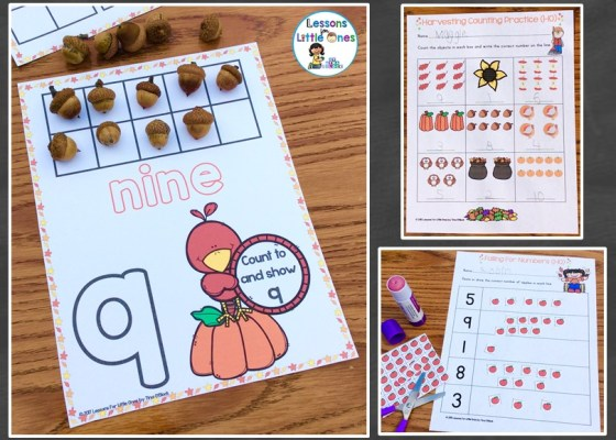 differentiated fall counting numbers practice