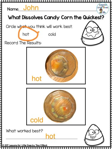 candy corn experiment page - Pic Collage