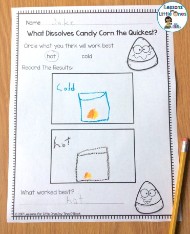 candy corn experiment page