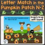 letter recognition practice for letters N-Z