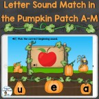 letter sounds beginning sounds practice for letters A-M